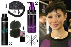 1. I attach Curlformers Deluxe Softhood Hair Dryer Attachment to the  nozzle of my blow dryer to set curls or a hair mask.  2. I love TRESemmé Youth Boost Youthful Fullness Emulsion Spray because it gives hair body. 3. Creating a perfect blowout is effortless with TRESemmé Get Sleek Heat Protect Spray. 4. Vivica A. Fox Kinky Afro Synthetic Weave is an amazing foundation for twists and updos.  5.  I only use Nishida Hair Pins because they never fall out of hair.