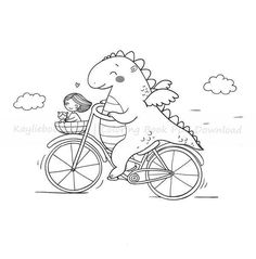 Cartoon Dinosaur, Dinosaur Funny, Coloring Books, Coloring Pages, Gus G, Cute Dragons, Girls Dream, Printable Coloring, High Quality Images
