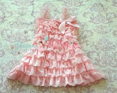 Baby Pink Lace Dress ruffle dressbaby dress by HappyBOWtique, $23.99