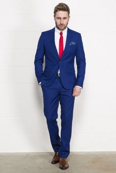 Petrol Blue Three Piece Suit