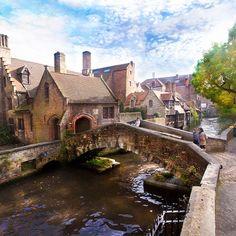 Possibly the quaintest spot in all of Europe: Bonifaciusbridge, Bruges