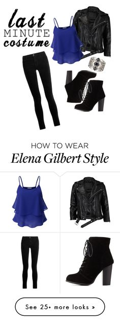 """Elena Gilbert Halloween costume"" by hannahfarrer on Polyvore featuring VIPARO, Doublju, Charlotte Russe, J Brand and Stephen Webster"