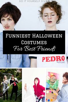 do it yourself divas: Funny DIY Halloween Costumes for Best Friends, Couples, or Siblings. Sibling Halloween Costumes, Sibling Costume, Funny Halloween Costumes, Napolean Dynamite Costume, Napoleon Dynamite, Last Minute Halloween Costumes, Halloween Diy, Napoleon Costume, Bob Ross Costume