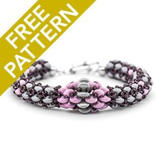 Chainon Bracelet Pattern for CzechMates | Fusion Beads