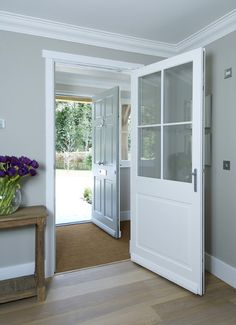Timber Windows and doors manufactured to the highest possible standards by Mumford and Wood since Visit our website for more details. Cottage Front Doors, Front Door Porch, Cottage Porch, Porch Doors, Front Porch Design, Wooden Front Doors, Front Door Entrance, House Front Door, House With Porch