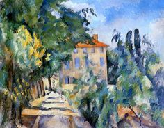 House with Red Roof Paul Cezanne - 1887-1890
