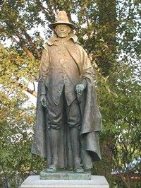 William Bradford - Mayflower Pilgrim; became leader of the Plymouth Colony after John Carver's death; signer (and primary architect) of the Mayflower Compact; Governor of Plymouth Colony; credited with what is considered to the first Thanksgiving. (mother's family)
