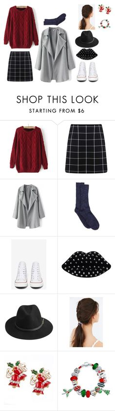 """Red Christmas"" by hien-anhhs on Polyvore featuring mode, Miss Selfridge, Converse, Lulu Guinness, BeckSöndergaard, JEM et Bling Jewelry"