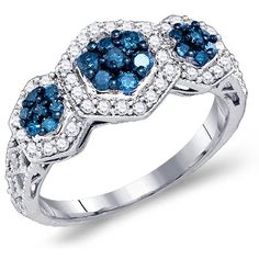 Blue & White Diamond Ring Flower Hallow Hectagon Band Fashion 10k White Gold (0.75 ct.tw), size 9 Jewel Roses,http://www.amazon.com/dp/B00ABAUHNY/ref=cm_sw_r_pi_dp_Jx1rtb0GJYQTTWVN