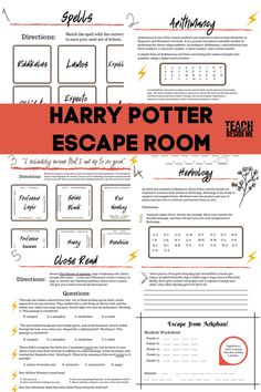 Harry Potter School, Harry Potter Classroom, Theme Harry Potter, Harry Potter Birthday, Harry Potter Love, Escape Room For Kids, Escape Room Puzzles, Harry Potter Activities, Harry Potter Printables