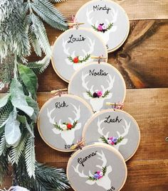 Missed getting your ornaments in time for this Christmas? Everything is 20% off now so you can personalize your ornaments for next year! Also serves as cute nursery decor in the meantime . Coupon code is LASTCHANCE and sale ends tomorrow. Click link in profile to shop! #embroidery #christmasornaments #deer #stag #ABMcrafty #kimart #shopsmall #personalized #etsygifts