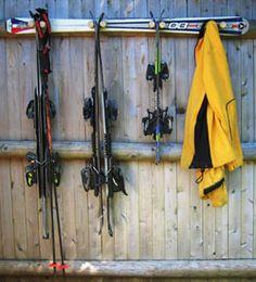 Atomic Snow Ski Rack to hold Snow Skis @americanadirondackchairs.com