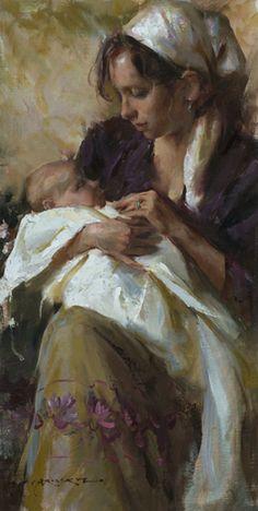 ☆ Her First Born :¦: Artist Daniel F. Gerhartz ☆ From http://www.paintingsframe.com/Daniel+Gerhartz-painting-c26.html