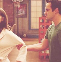 (gif) Nick kissing Jess made my day better. #NewGirl
