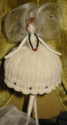 "Antique ""Needle"" Dolls with Display Case   eBay"
