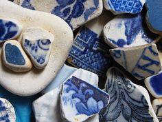 elorablue: sea-worn ceramics by Jooliree on Flickr.