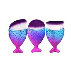 Lanpan New Kabuki Make up Brushes Set Makeup Foundation Powder Blusher Face Brush *** Check out this great product. (This is an affiliate link) Foundation Contouring, Makeup Foundation, Liquid Foundation, Unicorn Fish, Synthetic Brushes, Mermaid Makeup, Mermaid Brush, It Cosmetics Brushes, Cosmetic Brushes