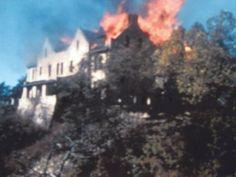Fire at Ha Ha Tonka at Lake of the Ozarks