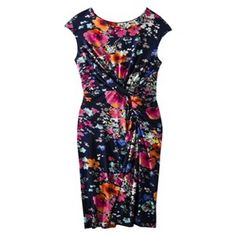 Target Merona® Women's Floral Twist Waist Dress.. I have this same dress and love it <3 very flattering yet comfy :)