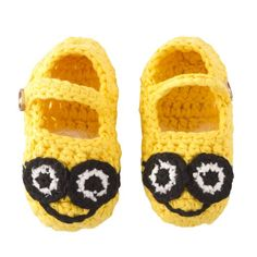 "handmade from 100% cotton yarn nod to Universal Pictures ""Despicable Me"" great for everyday wear, gifts, dress-up, or photos"