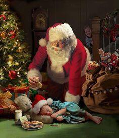 I love Santa pictures! Christmas Scenes, Santa Christmas, Christmas Pictures, Vintage Christmas, Father Christmas, Christmas Countdown, Christmas Jigsaw Puzzles, Santa Pictures, Santa Clause Pictures