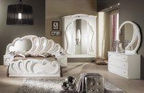 Italienische Schlafzimmer in Hochglanz WEISS, | Ideen rund ums Haus ...