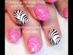 Black & White zebra with pink ZING!