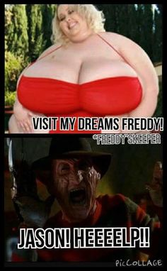 Poor Freddy, looks like your on your own! Slasher, Horror Movies Funny, Humor, Horror Movie Art, Horror Films, Scary Movies, Funny Horror, Halloween Horror, Funny Comics