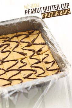 No-Bake Peanut Butter Cup Protein Bars