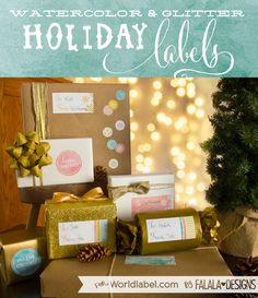 Printable Holiday Labels - falala designs