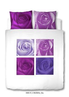 Home Style Dekbedovertrek roses 3005 lila