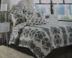 Swapped out bedding to Nicole Miller's Jacobean Medallion this weekend.