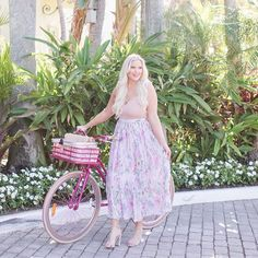 """Caroline Kalentzos on Instagram: """"Just because it's hard doesn't mean you should give up. Actually, it means the exact opposite to me. When something seems too overwhelming,…"""" Girly Things, Floral, Skirts, Instagram, Fashion, Girl Things, Moda, Fashion Styles, Skirt"""
