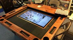 Digital mapping system poker table, game tables, board game table, game b. Board Game Table, Board Games, Game Tables, Game Boards, Gaming Table Diy, Gaming Setup, Poker Table Diy, Dnd Table, Diy Games