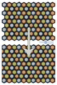 How to make a straight edge on a hexagon blanket with half hexagons. Tutorial by Polka Dot Cottage