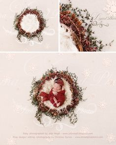 October special offer 90% off - Newborn christmas nest with stars - Digital backdrop - psd with layers