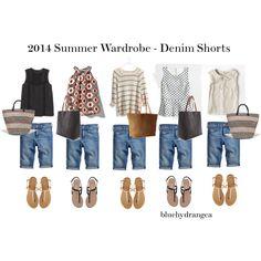 """Summer Wardrobe - Denim Shorts"" by bluehydrangea on Polyvore"