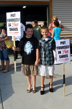 Teaching boys about healthy relationships. Walking to step up against #DomesticViolence.