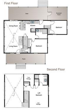 view Pre-Designed Barn Home Kits   floorplans   Pinterest   Barn ...