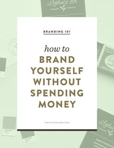 brand yourself without spending money — Spruce Rd. How to brand yourself without spending money Personal Branding, Marca Personal, Branding Your Business, Business Marketing, Logo Branding, Creative Business, Business Tips, Brand Identity, Corporate Branding