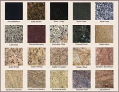Different Colors of Granite Countertops Granite Kitchen Counters Granite Countertops Colors Granite Colors  sc 1 st  Pinterest & 27 Best granite samples images | Granite countertop Granite ...