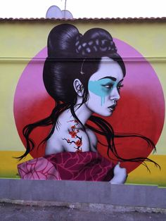 "Fin DAC paints ""Okurimono"", a new mural in Rome, Italy"