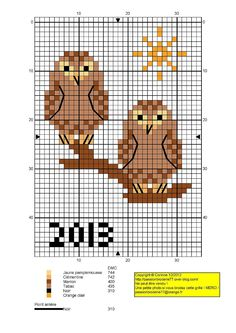 owls cross stich