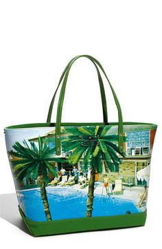 kate spade new york 'wish you were here - coal small' canvas tote  $183