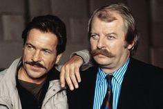 """Als """"Tatort""""-Kommissare Schimanski und Thanner waren Götz George und Eberhard Feik in den 80er Jahren Kultstars"""