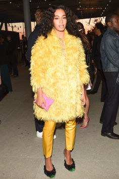 Take It From Solange & Rihanna, Fluffy Shoes Are In Fluffy Shoes, Carpet Trends, Solange Knowles, Anya Hindmarch, Mellow Yellow, Unisex Fashion, World Of Fashion, Women's Fashion, Cool Style