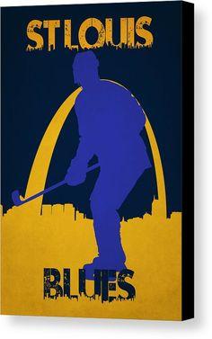Blues Canvas Print featuring the photograph St Louis Blues by Joe Hamilton