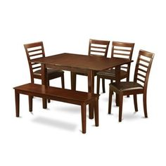 Shop for 6-piece Small Table and 4 Kitchen Chairs and Dining Bench. Get free delivery at Overstock.com - Your Online Furniture Shop! Get 5% in rewards with Club O!