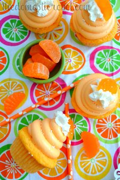 Orange Creamsicle Cupcakes | The Domestic Rebel