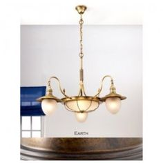 Lustrarte 335/3 Five Light One Tier Chandelier from the Leme Collection